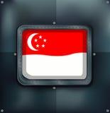 Flag of Singapore on metalic background Stock Photo