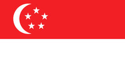 Flag of Singapore. Official symbol of the country Royalty Free Stock Photo