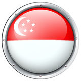 Flag of Singapore in round frame Royalty Free Stock Photography