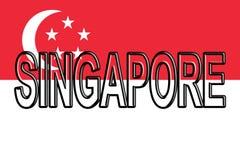 Flag of Singapore Word. Royalty Free Stock Photo