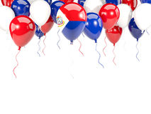 Flag of sint maarten on balloons Royalty Free Stock Image