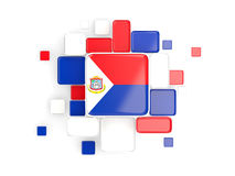 Flag of sint maarten, mosaic background Royalty Free Stock Image