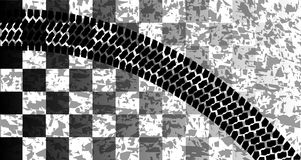 Flag Skid Mark royalty free illustration