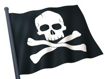 Flag skull and crossbones Royalty Free Stock Images