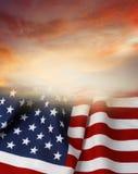 Flag and sky Stock Photos
