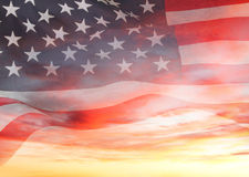 Flag and sky Royalty Free Stock Photo