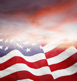 Flag and sky Stock Photography