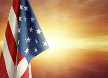 Flag and sky Stock Image