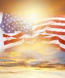 Flag and sky Royalty Free Stock Photos