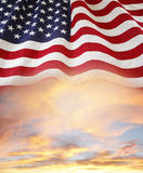 Flag and sky Royalty Free Stock Images