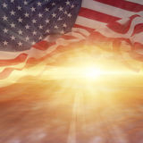 Flag and sky Royalty Free Stock Photography