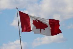 Flag, Sky, Cloud, Red Flag royalty free stock image