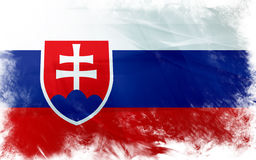 Flag of slovakia Stock Photos