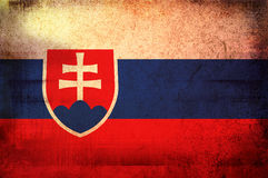 Flag of slovakia Stock Photography