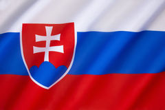 Flag of Slovakia Royalty Free Stock Photo