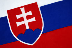 Flag of Slovakia. The current form of the flag of Slovakia was adopted by Slovakia's Constitution, which came into force on 3rd September 1992. The flag, in Royalty Free Stock Photography