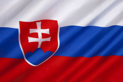 The flag of Slovakia - Europe Royalty Free Stock Photos