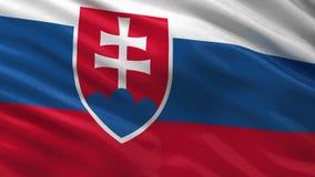Flag of Slovakia - seamless loop stock footage