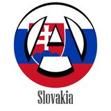 Flag of Slovakia of the world in the form of a sign of anarchy vector illustration