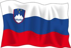 Flag of Slovenia Royalty Free Stock Photo
