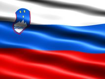 Flag of Slovenia Stock Photos