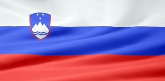 Flag of Slovenia Royalty Free Stock Photography