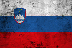 Flag of the Slovenia close up Royalty Free Stock Image
