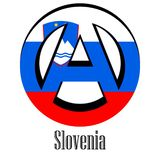 Flag of Slovenia of the world in the form of a sign of anarchy royalty free illustration
