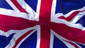 UK Flag in Slow Motion Smooth blowing in wind seamless loop Background. Flag in Slow Motion Classic Flag Smooth blowing in the wind on a windy day rising sun 4k stock footage