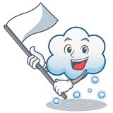 With flag snow cloud character cartoon Royalty Free Stock Photography