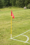 Flag on an soccer field Royalty Free Stock Photography