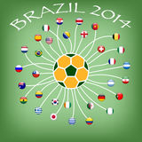 Flag of soccer team in world cup Royalty Free Stock Photos