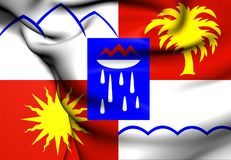 Flag of Sochi, Russia. Close Up Stock Photography
