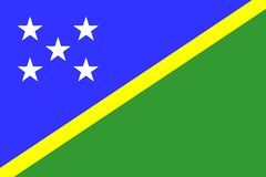 Flag of Solomon Islands Royalty Free Stock Photos