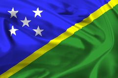 Flag of Solomon Islands Stock Photo