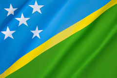 Flag of the Solomon Islands Royalty Free Stock Photo
