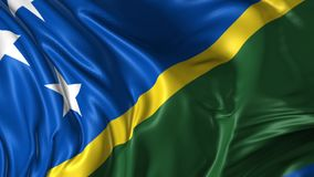Flag of Solomon Islands stock footage