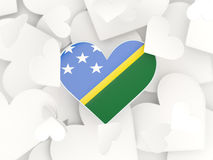 Flag of solomon islands, heart shaped stickers Royalty Free Stock Photos