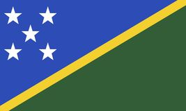 Flag of the Solomon Islands. The original flag Royalty Free Stock Images