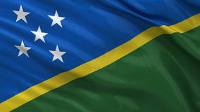 Flag of the Solomon Islands - seamless loop stock video footage