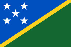 Flag of Solomon Islands. Vector illustration Royalty Free Stock Photography