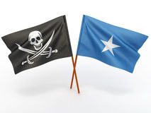 Flag of Somali and Holly Roger Stock Images