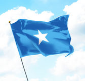 Flag of Somalia. Raised Up in The Sky Stock Images