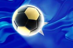 Flag of Somalia wavy soccer Royalty Free Stock Photos