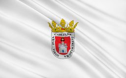 Flag of Soria is a city in north-central Spain. The capital of the province of Soria in the autonomous community of Castile and Leon stock illustration