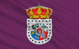 Flag of Soria is a province of central Spain. In the eastern part of the autonomous community of Castile and Leon. Most of the province is in the mountainous royalty free illustration