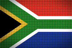 Flag of South africa. South African flag. 2010 soccer world cup Royalty Free Stock Photos