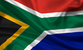 Flag of south africa. 3d rendered flag of south africa royalty free stock image