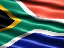Flag of South Africa. Computer generated illustration of the flag of South Africa with silky appearance and waves Royalty Free Stock Photo