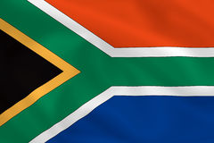 Flag of South Africa. South African waving flag (background or wallpaper Stock Photos